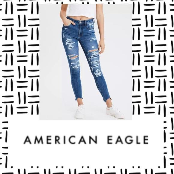 American Eagle Hi-Rise Jegging Crop Jeans